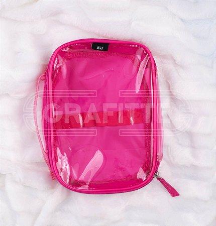 Estojo Box Neon Transparente Kit