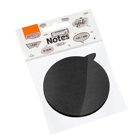 Bloco Adesivo Smart Notes Black BRW 50 folhas
