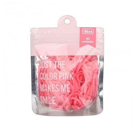 Elástico Color Rosa Bag c/50 pc Tilibra 31473