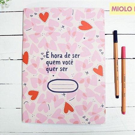 Caderno Flex Maxi Pautado Corações 40 folhas