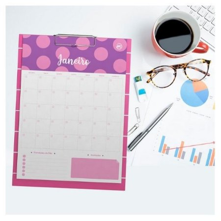 Calendário Planner Prancheta Pink DAC