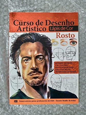 Curso de Desenho Artístico  Lápis de Cor - Rosto