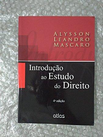 Introdução ao Estudo do Direito - Alysson Leandro Mascaro