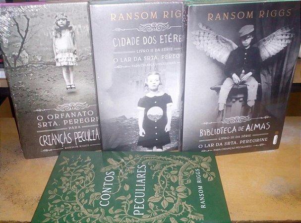 Coleção O lar da Srta. Peregrine - Ransom Riggs + Contos Peculiares 4 volumes