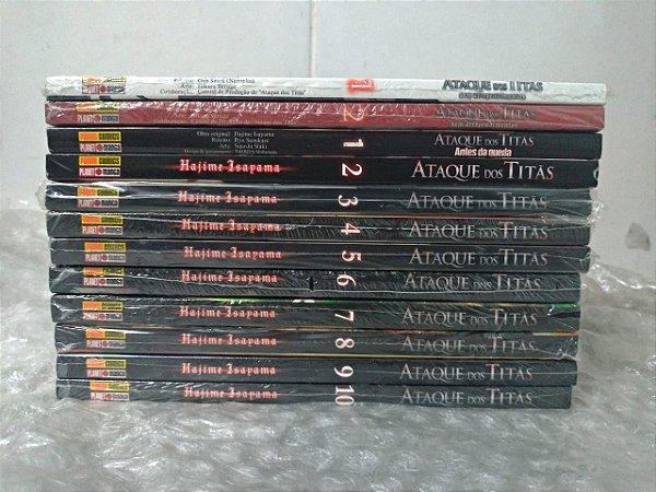Coleção Ataque de Titãs - Hajime Isayama C/12 volumes