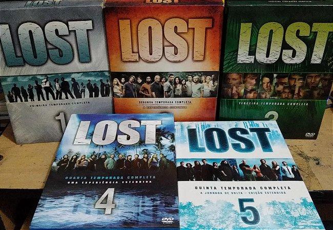 COLEÇÃO DVDS LOST 1 A 5 TEMPORADAS