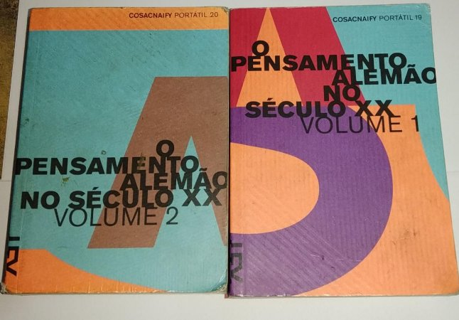 O pensamento alemão no século xx 2 volumes - Cosacnaify