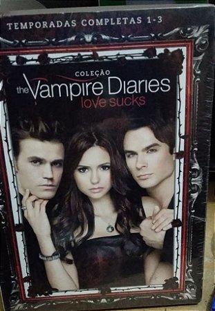 Coleção The Vampire Diaries - Love Sucks - 1 2 e 3 - Box Lacrado - 15 DVD's