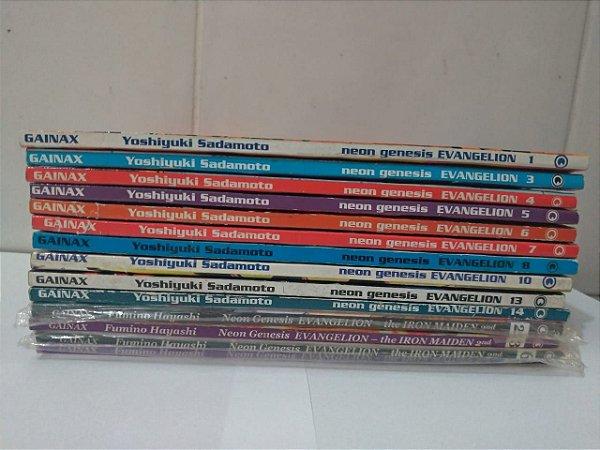 Coleção Neon Genesis Evangelion - Yoshiyuki Sadamoto C/14 vols.
