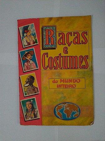 Álbum de Figurinha: Raças e Costumes do Mundo Inteiro - Completo