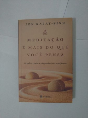 Meditação é Mais do que Você Pensa - Jon Kabat-Zinn