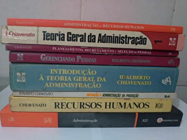 Lote Administração C/7 Volumes - Idalberto Chiavenato