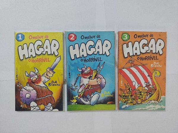 Coleção O Melhor de Hagar O Horrível - Dik Brown C/3 volumes