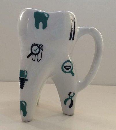 Caneca Dente Molar c/ Detalhes