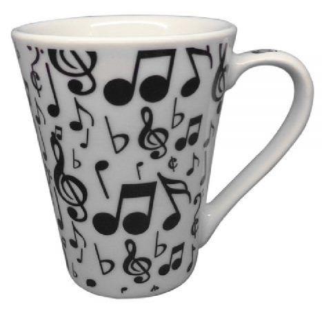 Caneca Musica modelo Tulipa com Notas Musicais