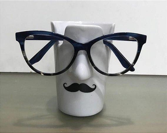Porta óculos Bigode - Porcelana