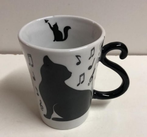 Caneca gato Preto Alça Rabo do Gato