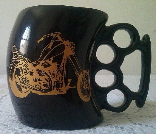 Caneca Soco Inglês Moto Chopper