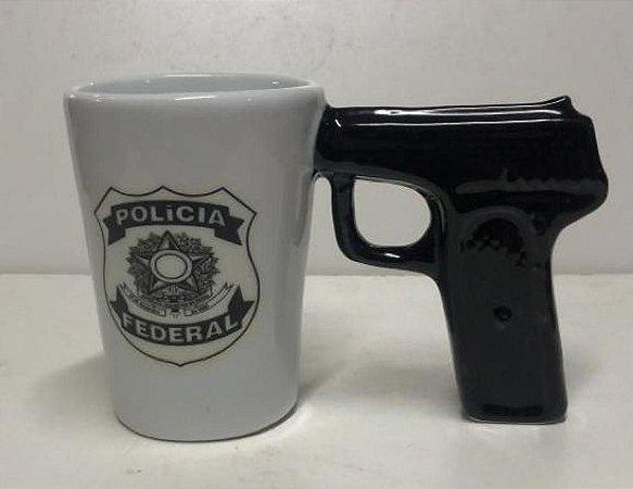Caneca Revolver Policia Federal