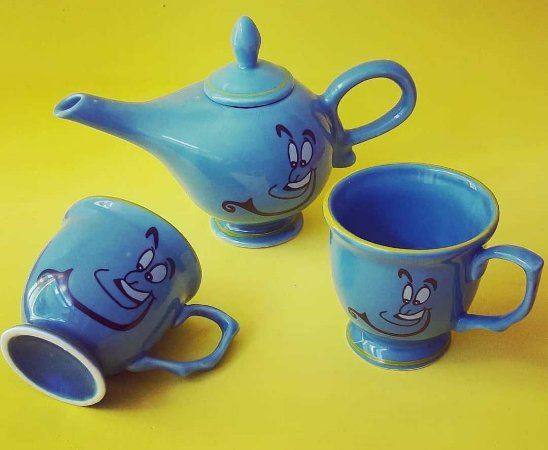 Kit Café Ou Cha Bule E Xícaras Aladin - Porcelana (3 Peças)