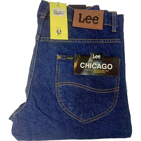 Calça Lee Chicago masculina 100% Algodão - Azul Escuro ref 1015