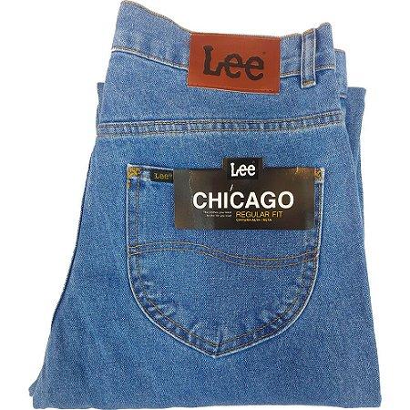 Calça Lee Chicago masculina 100% Algodão  - Azul Claro