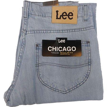 Calça Lee Chicago masculina 100% Algodão - Azul Claro Delave