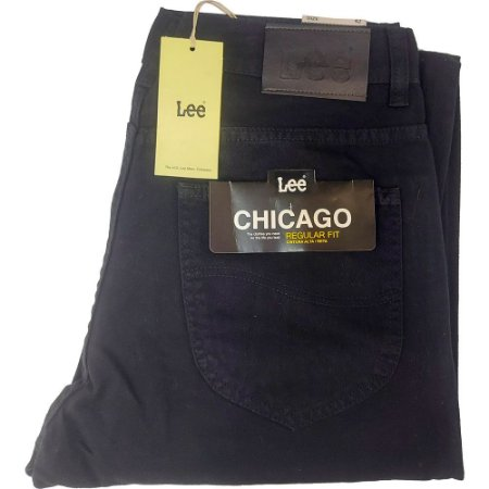 Calça Lee Chicago masculina - Sarja Preta