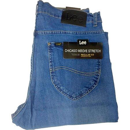 Calça Lee Chicago masculina - Azul Claro com Laycra e Lavagem