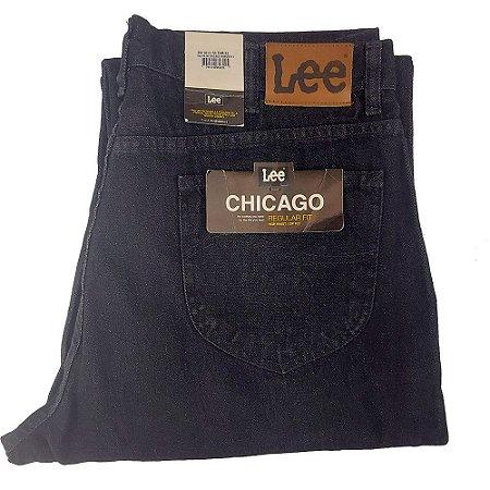 Calça Lee Chicago masculina100% Algodão - Preta Plus Size