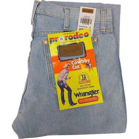 Calça Wrangler Cowboy Cut 100% Algodão masculina - Cor Delave REF 13MWZGK36