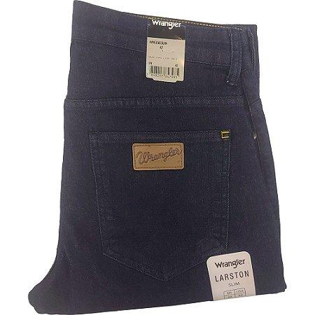 Calça Wrangler Slim com Elastano masculina - Cor Azul Escuro - REF WM3503