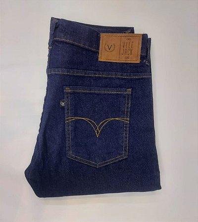 Calça Vilejack masculina com elastano- cor azul escuro