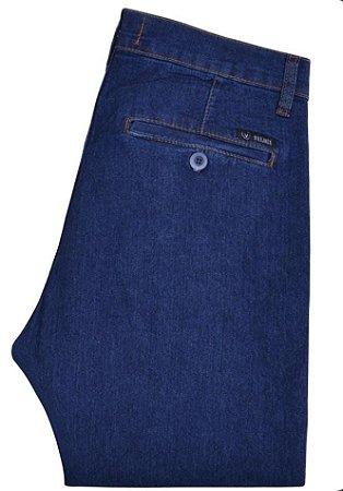 Calça Vilejack masculina bolso faca sportwear com elastano cor azul escuro