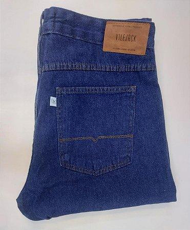 Calça vilejack masculina 100% algodão azul escura