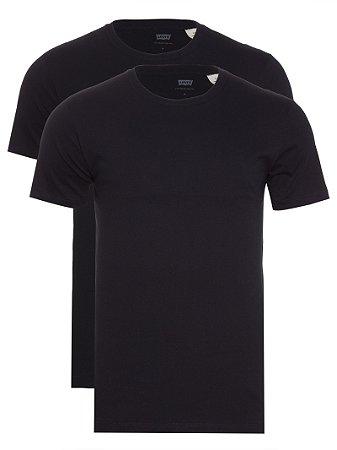 Kit Camiseta Levi´s - Cor Preto com Preto / masculina