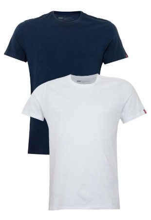 Kit Camiseta Levi´s - Cor Branco com Marinho / masculina