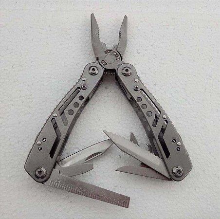 Canivete Alicate Tático Multifunção Aço Inox com Bainha