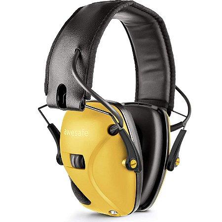 Abafador Eletrônico Tiro Esportivo Awesafe - Amarelo
