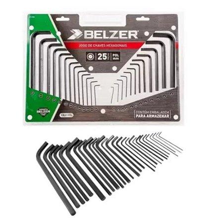 Jogo De Chave Belzer Allen Hexagonal Com 25 Peças 09120bz