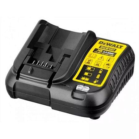Carregador DeWALT Bivolt Bateria Íon Lítio 12v 20v DCB107