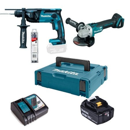 Combo Kit Esmerilhadeira DGA504Z + Martelete DHR165Z Bateria Makita