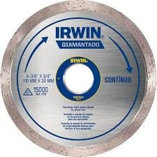 Disco de Corte Diamantado Contínuo de 110 x 20mm IRWIN