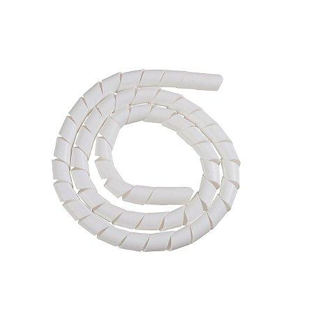 Tubo espiral 1/2 PE branco 5m