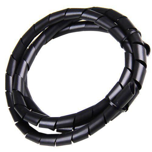 Tubo espiral 1/2 PE preto 5m