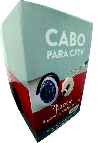CABO BLINDADO FTP 4 PARES EXTERNO 305 MT PRETO