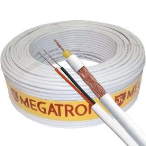 Cabo coaxial 4mm com alimentação 100m - MEGATRON