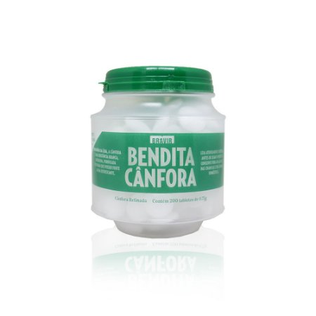 BENDITA CÂNFORA TABLETES Pote c/ 200un de 0,75g