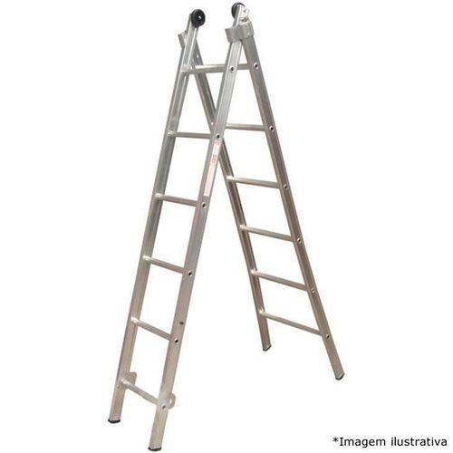 Escada Esticável Dupla ED110 10 DEGRAUS - ALULEV