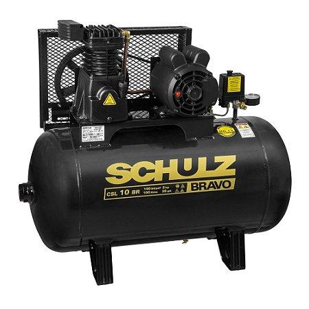 Compressor de Ar CSL 10 BR/100L 220/380V Bravo - SCHULZ